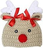 SJBF Juguete de Peluche Ciervos Navidad Sombrero Unisex de Punto Caliente Suave de algodón for bebés Feliz Navidad del Sombrero del Casquillo del bebé Los niños pequeños niñas Fotografía