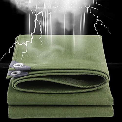 MNBV Lona Impermeable Espesada de 0,75 mm para el Sol y Aislamiento térmico, toldos para toldos agrícolas de Lona para Camiones, Carpas para Acampar, Carpas para Parabrisas en el Patio (Color: ve