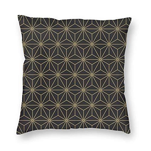 Paleta Antigua Vintage japonés Asanoha algodón hogar Decorativo Tiro Funda de Almohada Funda de cojín para sofá sofá