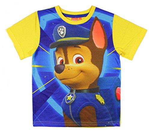PAW PATROL Kurzarm T-Shirt (98, Gelb)
