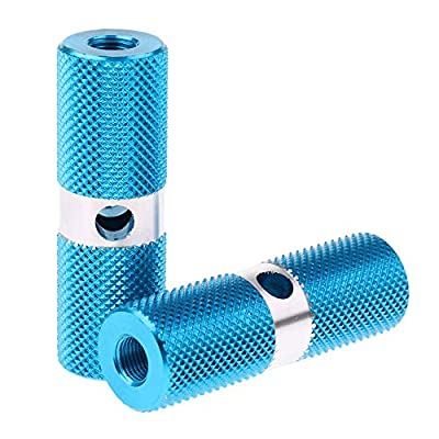 1 Pair Bike Pegs,Aluminum Alloy Bike Pegs Foot Pedals Backseats Stands,BMX Bicycle Cycle Bike Stunt Pegs Alloy Anodised Colour Wheel Tyre,Blue