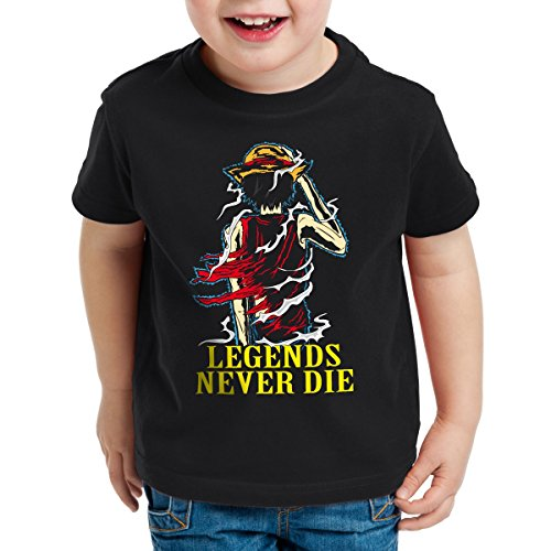 Legends Never Die - Luffy T-Shirt pour Enfants, Taille:152