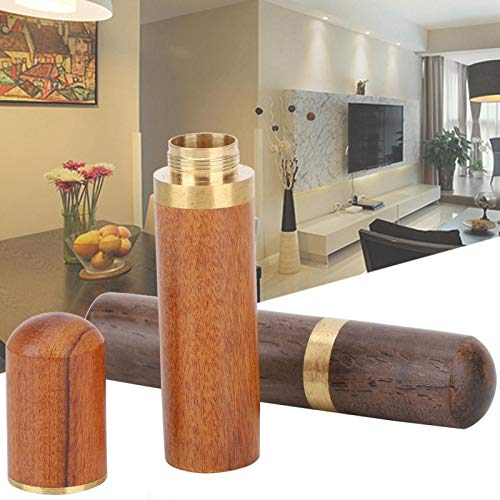 2 cajas de agujas de ébano y palisandro de madera de ébano y contenedor de agujas de tamaño pequeño duradero bordado de cuero para guardar agujas (hueso + palisandro)