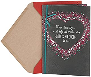 Hallmark Mahogany Anniversary Card or Love Card for Husband or Boyfriend (God Is Good)