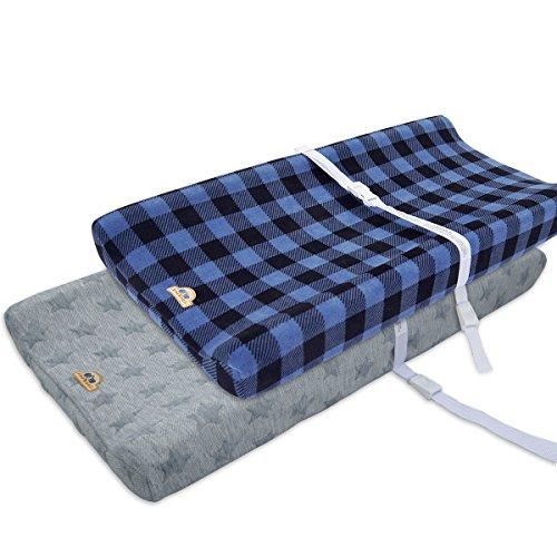 51Rvpj2k9yL - BROLEX Stretchy Changing Pad Covers – Ultra Soft Stretchy Changing pad covers