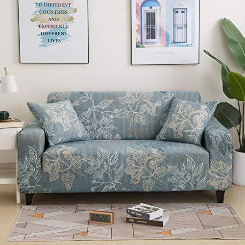 Fundas de sofá suaves y cómodas para sala de estar, fundas elásticas para sofá de esquina, A18, 4 plazas