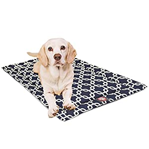 48″ Links Navy Blue Crate Dog Bed Mat By Majestic Pet Products