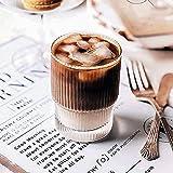 Tazza da caffè a gas, bassa, senza manico, per macchiato, resistente al calore, per acqua, tè, caffè, cappuccino, gelato, 201-300 ml