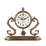 Relojes de Suelo Reloj de escritorio Sala de estar Casa Desktop Clock Péndulo Reloj de escritorio Escritorio Reloj Europeo Reloj Adornos Dormitorio Retro Mesa de noche Reloj Relojes despertadores