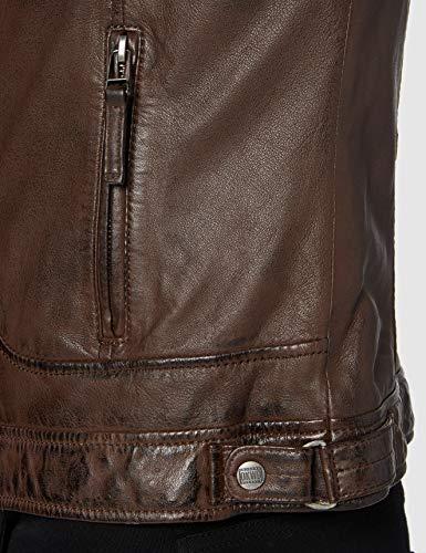 Oakwood 60901 - Chaqueta impermeable de manga larga para hombre, Color Marrón, Talla Small
