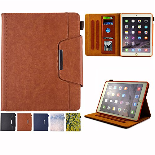 iPad Mini Case, iPad Mini 2/3 Case, iPad Mini 4 Case, iPad Mini 5 Case,JZCreater Folio Stand Wallet Case with Auto Sleep/Wake for Apple iPad Mini 1/2/3/4/5, Brown