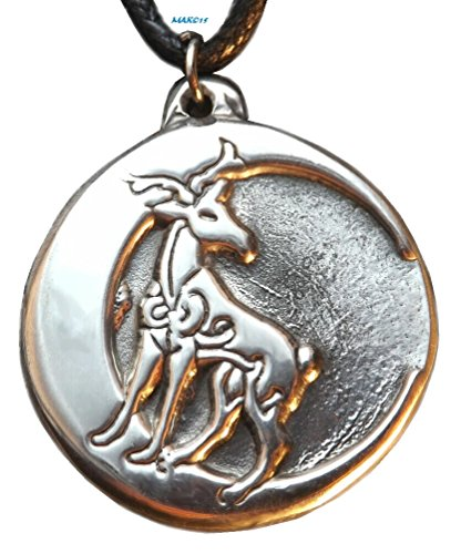 Stag Moon - Celtic - Pewter Pendant Jewelry - Celtic Deer with Crescent Necklace