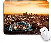 ECOMAOMI 可愛いマウスパッド ロサンゼルスカリフォルニアドジャースタジアムシティアーバン 滑り止めゴムバッキングマウスパッドノートブックコンピュータマウスマット