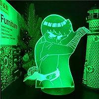 Tatapai NARUTO-ナルト-ロックリー3DLEDアニメ常夜灯ランプ寝室の装飾のためのNARUTO-ナルト-3Dビジュアル照明ランパラ-ブラックベースリモコン