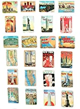 MISWEE 24-pcs magnetic fridge magnets refrigerator sticker home decoration accessories magnet paste arts crafts (new york)