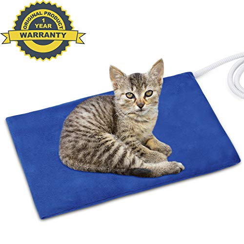 NAMOTEK Pet Heating Pad, Safe Electric Heating Pad for Dogs and Cats Indoor Warming Pad with Auto Constant Temperature 12 x 15.7 inches
