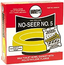 Harvey Toilet Bowl Gasket With Flange No. 5 Brass, Polyethylene