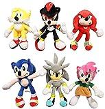 Set de juguetes de peluche Sonic de 6 piezas