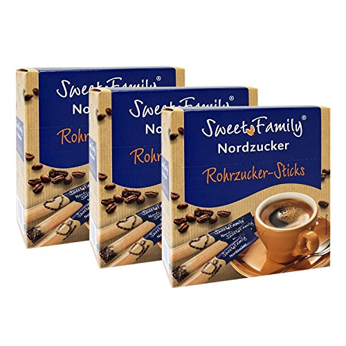 Sweet Family Rohrzucker-Sticks, 250g 3er Pack