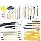 30pcs arcilla sculptant herramientas Pottery Carving Tool Set–incluye Clay Shapers color, herramientas de modelaje y cuchillo de escultura de madera