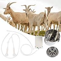 羊用搾乳機 ヤギ搾乳機 羊ミルカー 真空ポンプ ミルクチューブブラシ ミルクバケツ 酪農場 農場 畜産 ポータブル(USプラグ100-240V)