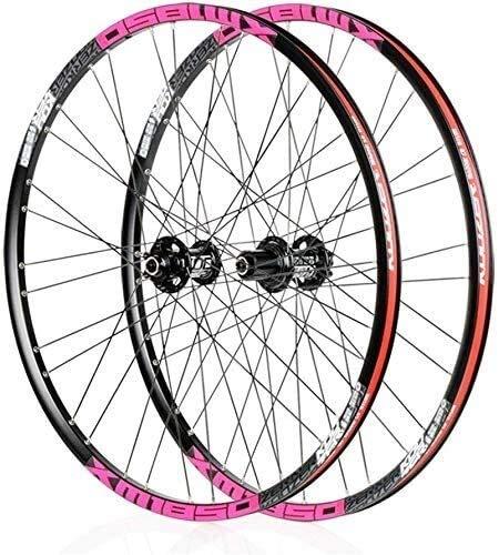 SOAR Cerchi Bici in Bicicletta, Ruote 26'/ 27,5' Bicicletta wheelset del Freno a Disco di sgancio rapido for Mountain Bike Ruote Cerchi in Lega di Alluminio 32H for Shimano o Sram 8 9 10 11 Ges
