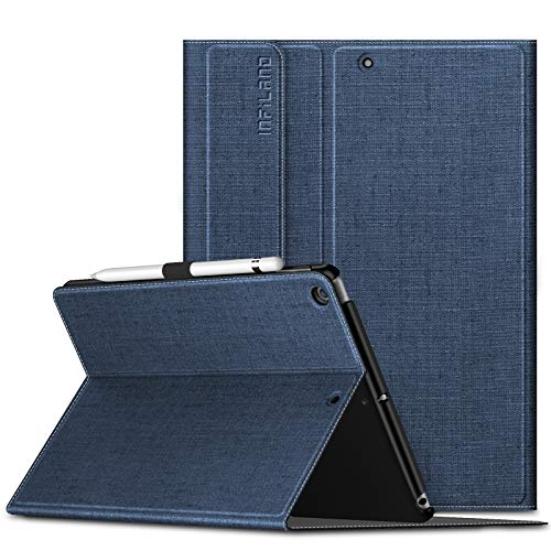 INFILAND iPad 10.2 2020 Case, iPad 10.2 2019 Case, Multiple Angle Stand Cover Compatible with iPad 7th/8th Gen 10.2 inch (Auto Wake/Sleep),Navy