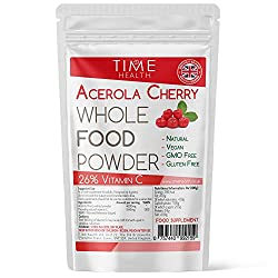 Acerola Cherry Spray Dried Juice Powder - Natural & Wholefood VIT C - 100g 250g 500g 1kg (100g Powder Pouch)