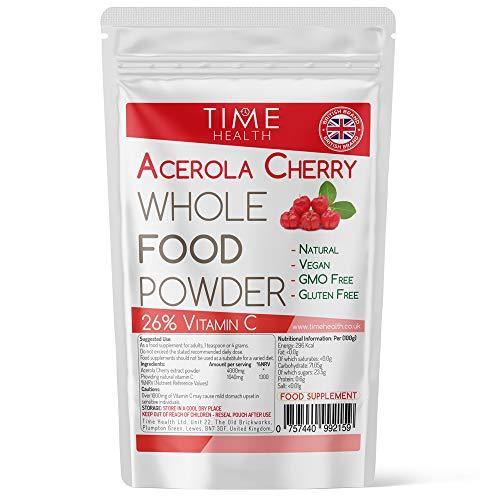Acerola Cherry Spray Dried Juice Powder - Natural & Wholefood VIT C - 100g 250g 500g 1kg (100g Powder Pouch)