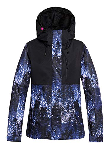 Roxy Jetty - Chaqueta Para Nieve Para Chicas Chaqueta Para Nieve, Niñas, medieval blue sparkles, M