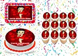 Betty Boop Cake Topper Edible Image Personalized Cupcakes Frosting Sugar Sheet (8' X 11' Cake Topper)