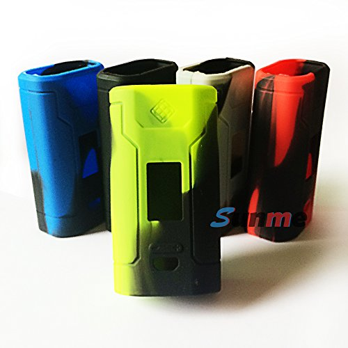 Sunme Protective Silicone Cases Wraps Sleeves for Predator 228W Mod Kit (Green&Black)