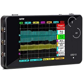 3Pouces DS213 Oscilloscope Portable 100MSa Oscilloscope Num/érique s 4 Canaux avec Certificat CE//FCC