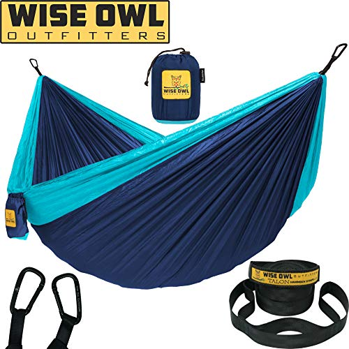 Wise Owl Outfitters Hammock for Camping Single & Double Hammocks Gear for The...