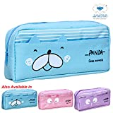 LUCID...We Build Relations Panda Geometry Box with 2 Compartments (Blue, 20X10X5 cm)