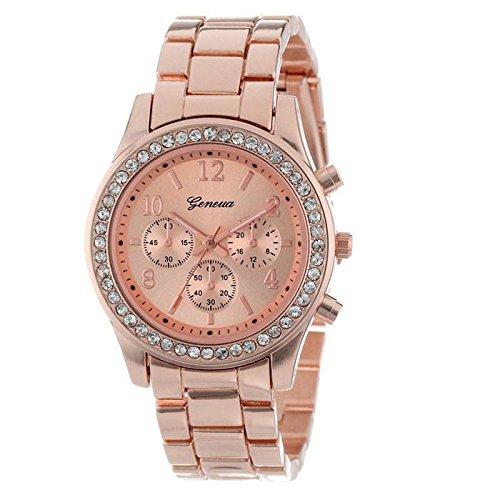 DAYLIN Relojes de Dama Mujer Señora Marcas Reloj de Pulsera de Cuarzo Reloj Mecanico Automatico Mujer Relojes Metalicos Cristales Redondo Reloj Negocios Joya Plateado/Oro Rosa/Dorado