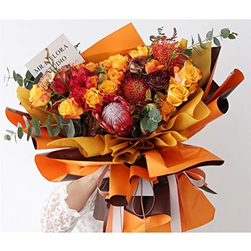 Flybloom Flowers Zweifarbiges Papier Florist Geschenkpapier Blumenstrauß liefert Hochzeitsfeier Geschenk Geschenkpapier Bastelpapier