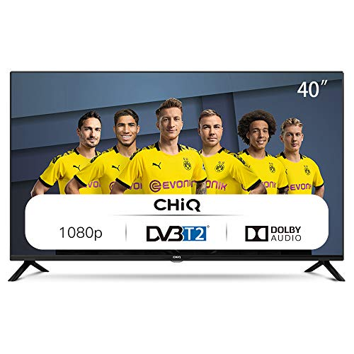 CHiQ Televisor 40 Pulgadas Full HD (NO Smart TV), 3 x HDMI, 2 x USB, Sintonizador Triple (DVBT / T2 / C / S2), Reproductor Multimedia a través del Puerto USB - L40G4500
