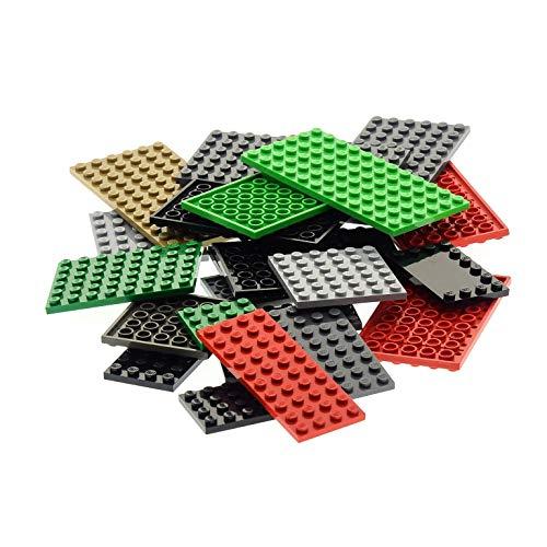 25 Platten Platte zufällig bunt gemischt Bauplatte Grundplatte Lego