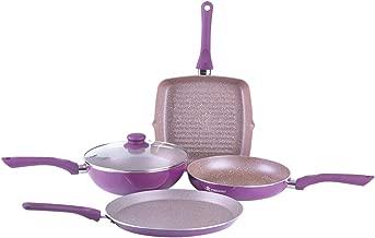 Wonderchef Aluminium Cookware Set, 4-Pieces, Purple