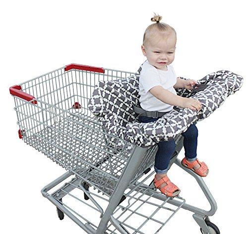 Jolly Jumper Sani-Shopper Housse pour chariot de courses avec ceinture de sécurité Compatible avec la plupart des chaises hautes Resturant Agneaux Sauge