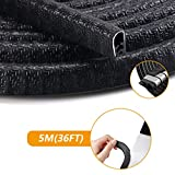 Car Door Edge Guard, Orbeor 5M U Shape Rubber Car Door Seal Trim Car Door Guards Protectors Strips for Car Metal Edges Boats, Grip Range 1.0mm to 2.5mm, Black