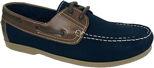 Seemann Yachtsman Leder Stiefeldeck Schuhe Größen 7-12 (9 UK, Marine)