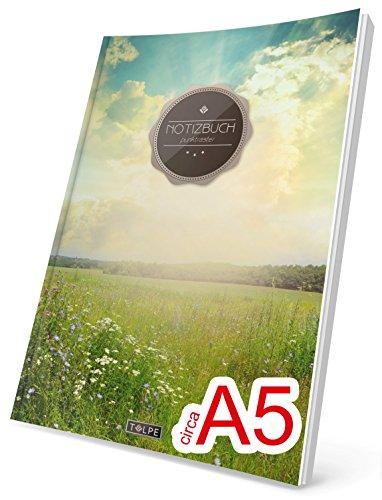 """TULPE Punktraster Notizbuch: Ca. A5 """"C013 Sonnenaufgang"""" (Vintage Softcover, Register, Punktkariertes Papier - Bullet Journal, Notizheft, Skizzenbuch, Tagebuch, Gepunktete Seiten, Dot Grid Notebook)"""
