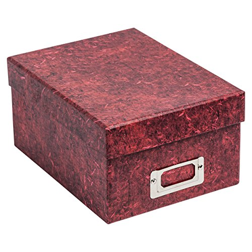 The Photo Album Company Fotogalierbox rote Marmor-Geschenkkarton Effekt hält bis zu 700 Fotos von 4 x 6 ALBOX700RED