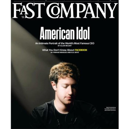Audible Fast Company, April 2012 cover art