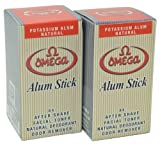 Omega Potassium Alum Stick Natural Aftershave and Toner by Omega