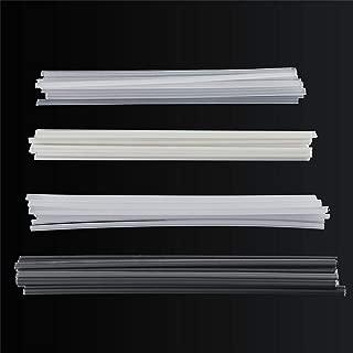 qwrew05 50Pcs Plastic Welding Rods Bumper Repair ABS/PP/PVC/PE Welding Sticks Welding Soldering Supplies for Plastic Welder Gun/Hot Air Gun