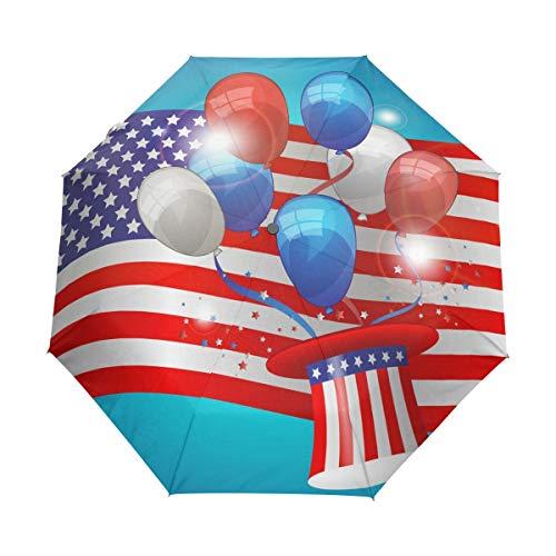 Hulahula USA Globo Paraguas Plegable Hombre Automático Abrir y Cerrar Antiviento Ligero Compacto Paraguas para Viajes Playa Mujeres Niños Niñas