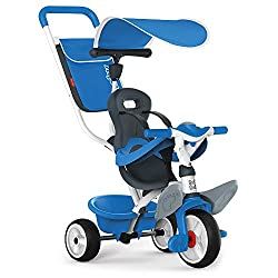 The baby tricycle will help with the bond between you and your baby as you both enjoy your walk. The redesigned headrest, harness and safety ring keeps them comfortable and safe, and the adjustable parasol protects them from the sun while they take i...